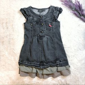 🎀 Mexx Girl Denim Ruffle Dress 🎀